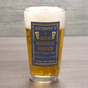 Personalized Beer Removal Pint Glass U313392