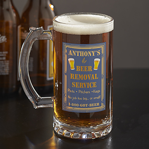 Personalized Beer Removal Glass Stein  U313395
