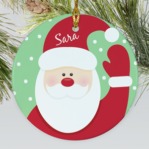 Ceramic Santa Ornament | Personalized Christmas Ornaments For Kids