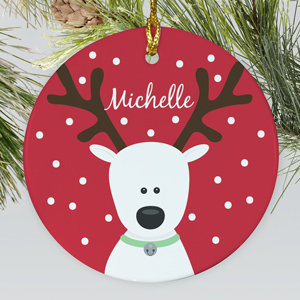 Reindeer Christmas Ornament | Personalized Christmas Ornaments For Kids