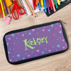 All Hearts Custom Printed Pencil Case U36217