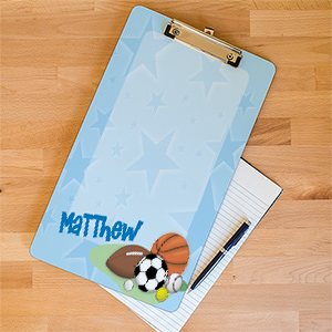 Personalized Sports Fan Clipboard U362424
