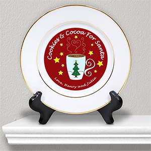 Cookies for Santa - Cocoa or Milk Personalized Ceramic Plate U368712