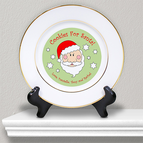 Cookies for Santa Personalized Ceramic Plate U368812