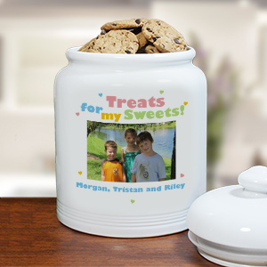 Treats for My Sweets Photo Ceramic Cookie Jar U370215