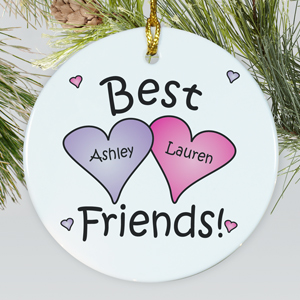 Best Friends Personalized Ceramic Ornament | Personalized Christmas Ornaments For Kids