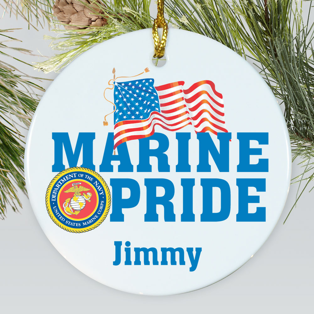 Personalized Ceramic Military Pride Ornament U377810