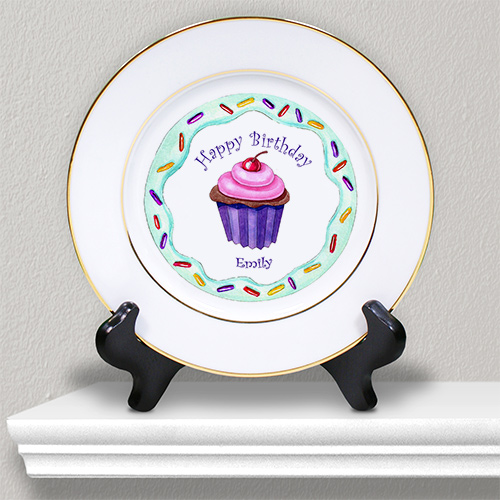 Personalized Ceramic Birthday Girl Plate U378912
