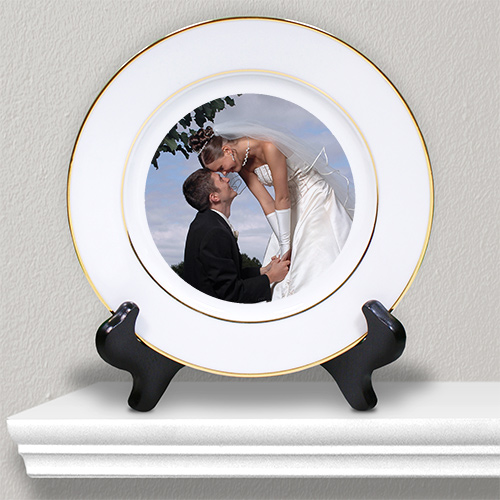 Picture Perfect Wedding Photo Ceramic Plate U382712