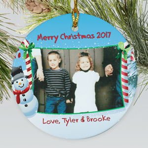 Personalized Ceramic Christmas Photo Ornament | Picture Ornaments