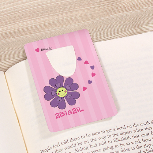 Personalized Flower Bookmark U39265