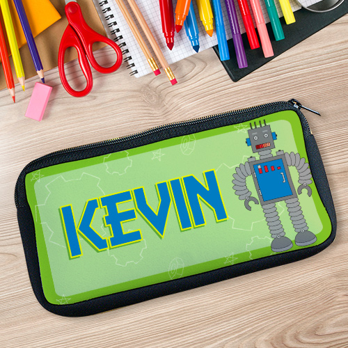 Personalized Robot Pencil Case U39327