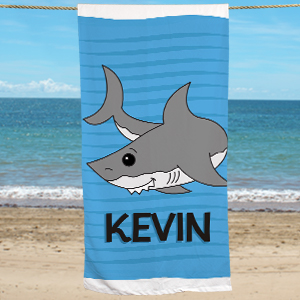 Personalized Shark Beach Towel U394933
