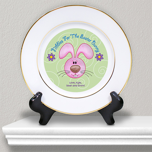 Personalized Ceramic Easter Plate | Personalized Keepsake Plate