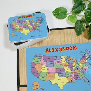 Personalized United States Tin
