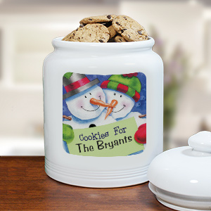 Personalized Ceramic Christmas Cookie Jar | Personalized Christmas Decor