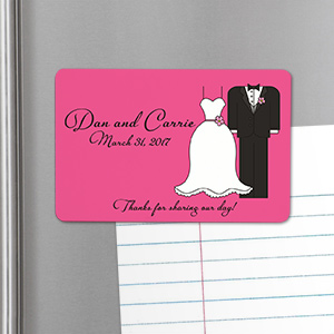 Personalized Bride And Groom Wedding Favor Magnet U563932