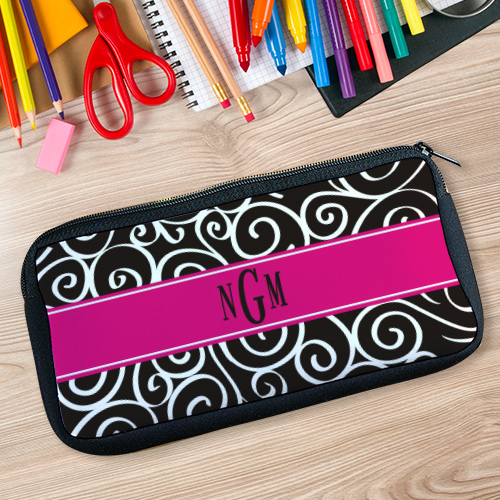 Monogram Madness Pencil Case | Personalized Teacher Gifts