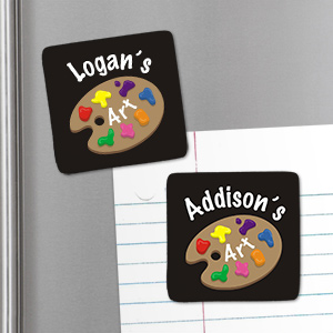 Personalized Whose Artwork Magnet U655946