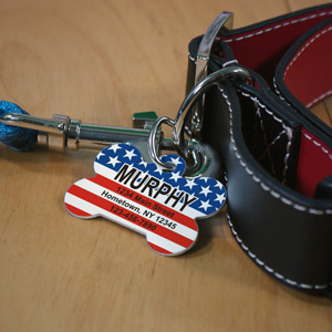 Personalized Stars and Stripes Pet Tag U664253X
