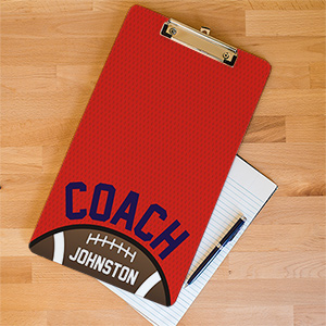 Personalized Football Coach Dry Erase Clipboard U677524X