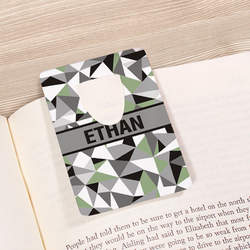 Personalized Jagged Squares Bookmark U68165