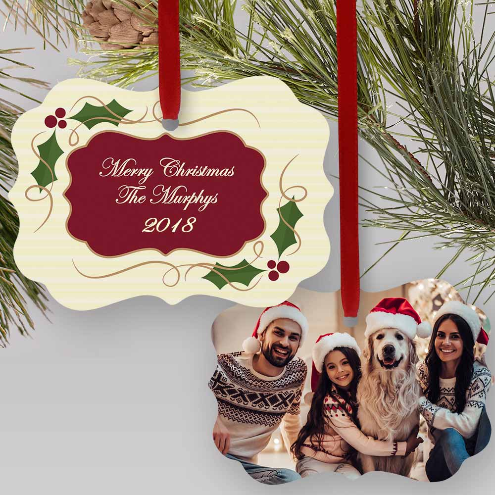 Family Photo Christmas Ornament | Picture Ornaments
