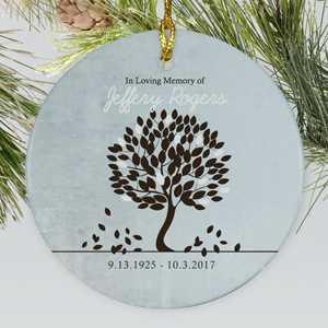 In Loving Memory Ceramic Ornament |  Memorial Christmas Ornaments