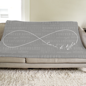 Personalized Infinity Symbol Fleece Throw | Personalized Fleece Blanket