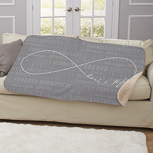 Personalized Infinity Symbol Sherpa Throw