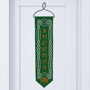 Personalized Celtic Irish Welcome Banner U742128