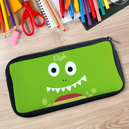 Personalized Dinosaur Zippered Pencil Case U77987