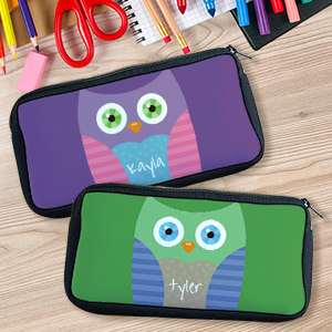 Personalized Owl Pencil Case U77997