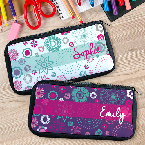 Personalized Floral Pencil Case U78047