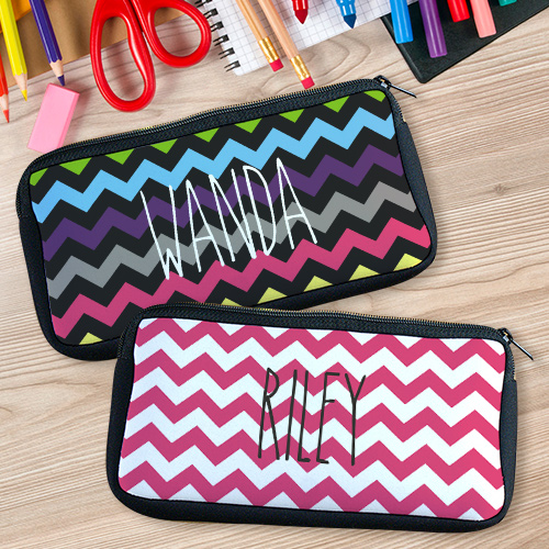 Personalized Chevron Pencil Case U78167