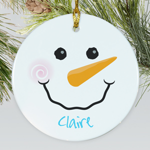 Ceramic Snowman Ornament | Personalized Christmas Ornaments For Kids