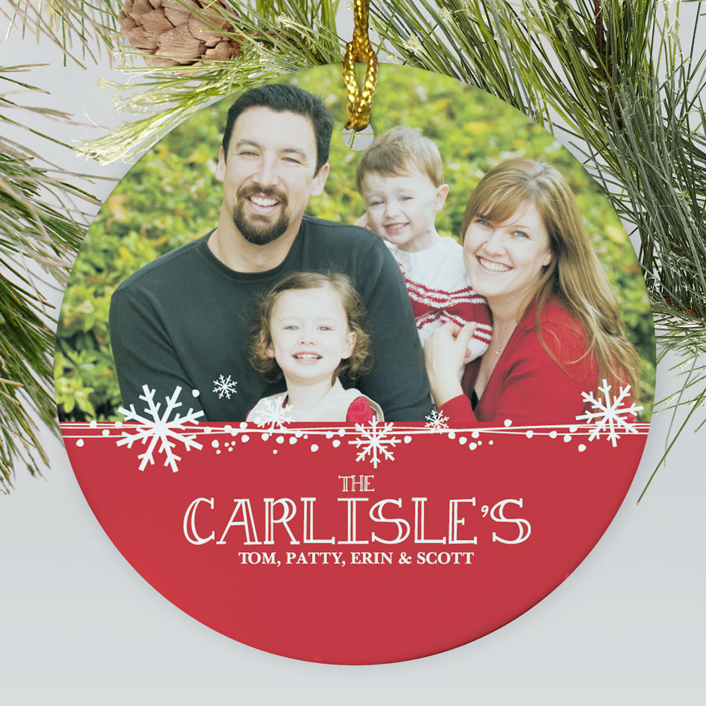 Personalized Christmas Photo Ornament | Picture Ornaments