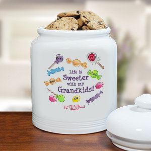 Life Is Sweeter Personalized Ceramic Cookie Jar U89515