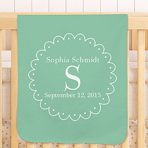 Personalized Baby Initial Fleece Blanket