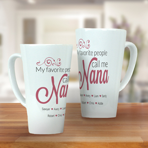 Personalized Nana Latte Mug | Mother's Day Coffee Mug
