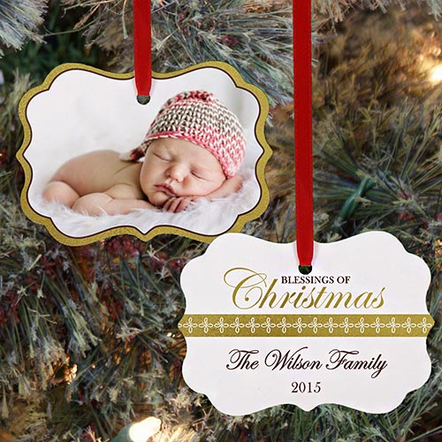Blessings of Christmas Photo Ornament