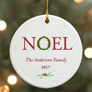 Personalized Noel Ceramic Ornament | Personalized Ornament