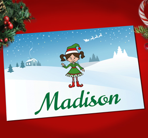 Holiday Character Personalized Kids Placemat