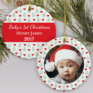 First Christmas Photo Ornament | Baby's First Christmas Ornaments