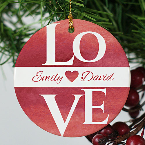 Personalized Love Ornament