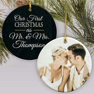 Our First Christmas Personalized Ornament | Couples First Christmas Ornament