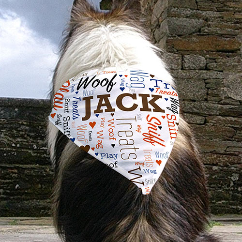 Personalized Wordart Pet Bandana | Personalized Word Art