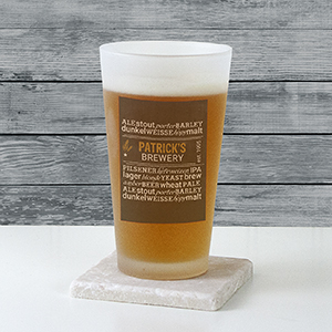 Personalized My Brewery Frosted Pint Glass U9923105