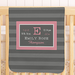 All About Baby Personalized Fleece Blanket U996851