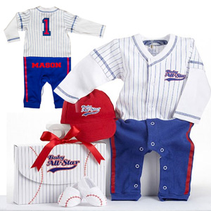 Personalized Baby Baseball Outfit Set | Personalized Baby Gifts